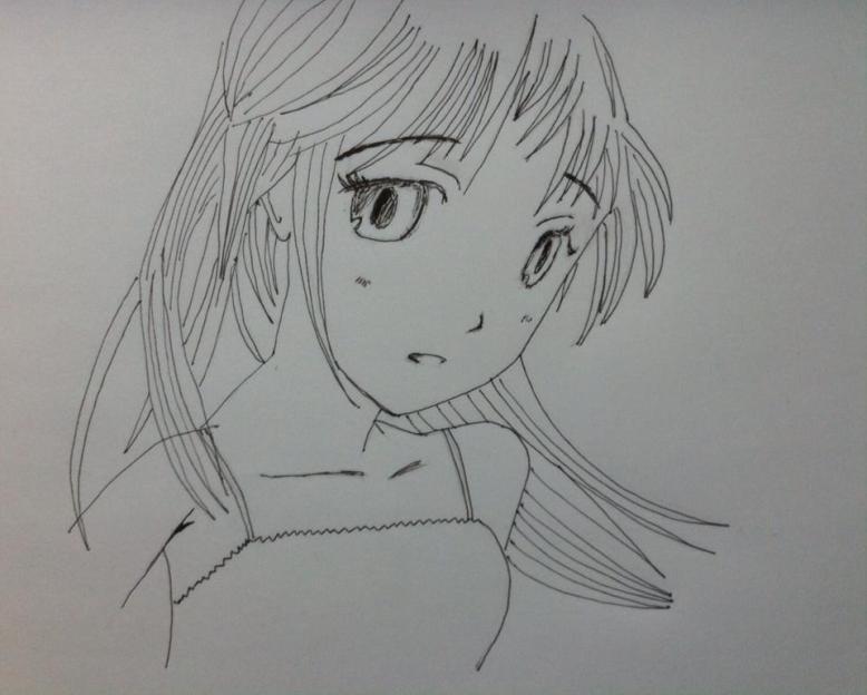 manga girl_sketch