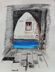 oil pastel frame