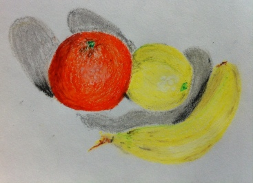 oil pastel fruit